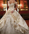 2017 New Champagne Wedding Dresses Lace Bridal Gowns Stock Size 6-8-10-12-14-16