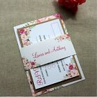 FLORAL BLOOM Rustic Wedding Invitations & RSVP // Invitation Bundle // SAMPLE