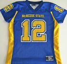 MCNEESE STATE (LA) COWBOYS NCAA FOOTBALL JERSEY GIRLS SMALL, MED, OR LG #12 NEW!