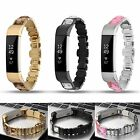 Diamond Rhinestone Stainless Steel Link Bracelet Band Strap For Fitbit Alta/HR