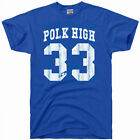 AL BUNDY polk high vintage 80s football jersey 33 costume gift gym T Shirt BLUE image