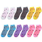 12 Pairs Women Ankle Socks Assorted Colors
