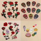 Embroidered Patches Iron On Badge Transfer Fabric Bag Clothes Applique Craft DIY $0.79 USD