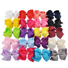 "1Pc 6"" Children Rhinestone Bowknot Large Bow Clip Hairpin Girl Hair Accessories"