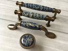 "3.75"" 5"" Blue Drawer Knobs Handles Kitchen Cabinet Handle Gold Bronze 96 128 mm"
