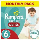 Pampers Baby Dry Pants Size 4 - 160 nappies Size 5 - 132 nappies 6 - 116 nappies