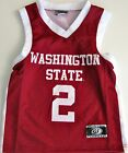 WASHINGTON STATE COUGARS YOUTH NCAA BASKETBALL JERSEY #2 NEW YOUTH S, M, L, XL