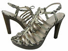 Coach Womens Sarafina Natural Snake Gladiator Sandals Platform Pumps Heels