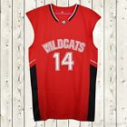 Zac Efron #14 Troy Bolton East High School Wildcats Stitched Basketball Jersey