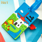 Cartoon Cute Luggage Tag Silicone Name Card Bag Holder Suitcase Baggage Label