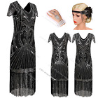 1930's 1920s Flapper Dress Vintage Gatsby Fringe Wedding Party 20s Sequin Tassel