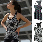 Ladies Sleeveless Reversible Stretch Workout Vest Top - Gym Run Yoga Fitness