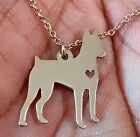 Miniature Pinscher Necklace - Sterling Silver Jewelry Gold - Rose Gold - Engrave