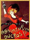 Absinthe Ducros Fils 1900 Vintage Poster Print Cappiello Art Advert French lady