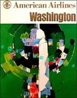 Washington DC 1963 American Airline Vintage Poster Air Travel Print