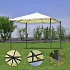 10' x 10' Garden Square Gazebo Canopy Tent Awning Outdoor Sun Waterproof Shelter