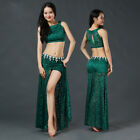 New 2017 Women's Lace Belly Dance Costumes Set Outfit 2Pics Top Skirt