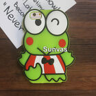 3D Frog Animal Cartoon Soft Silicone Case Cover For iPhone 5 5S 5C 6 6S 7 / Plus