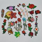Embroidered Flower Applique Iron On Sew On Patch For Clothing Peony Fabric Dress