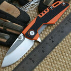 A0047Whale Shark Tactical Folding 9Cr18 Blade Orange G10 Handle EDC Knife Knives