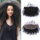 Afro kinky Curly Virgin human hair Closure 13*2 lace frontal closure Bleach knot