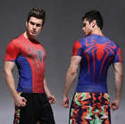 Mens DC Comic Superhero Compression Slim Short Sleeve T-shirts Jersey Top