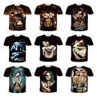 Fashion Men Rock 3D Printed Club Short Sleeve Cotton Casual T-shirt Tops Tee 3XL