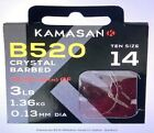 Kamasan B520 Barbed Hooks To Nylon Whisker Barb 8 Per Pk Course Match Fishing