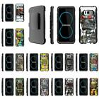 For Samsung Galaxy S Series Rugged Hybrid Holster Belt Clip Armor Robot Case