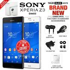 new sealed factory unlocked sony xperia z3 d6603 black white 16gb android phone