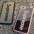Fashion Supreme Couples Pink/Black Case Mirror Phone Case For iphone 6 6S