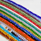 Kyпить New 3mm/4mm/6mm/8mm/10mm Rondelle Faceted Crystal Glass Spacer Loose Beads на еВаy.соm