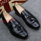 Men's Faux leather Dress formal business Chuban heel Moccasins Oxford Wing tip