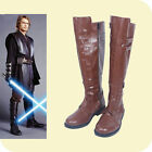 NEW! Star Wars Jedi Warrior Oubi Wang boots shoes costom made brown $31.5 USD
