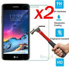 2Pcs 9H+ Premium Tempered Glass Film Screen Protector For LG K20 Plus K10 2017