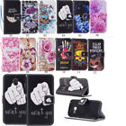 Patterned Wallet PU Leather Stand Card Slot Case Cover For Samsung Galaxy Phone