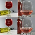 PERSONALISED Engraved Large Wine Glass Whole Bottle Of Wine All Occasions Gift