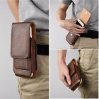 Vertical Leather Wallet Pouch Case 360 Rotate Belt Clip for iPhone Samsung Phone