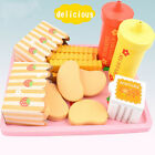 Wooden Play Food Role Pretend French Fries Child Kids Wood Kitchen Preschool Toy