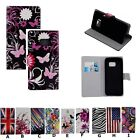 Classic Flower Patterned Magnetic Leather Card Wallet Case Cover For Smart Phone