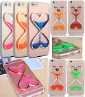 Dynamic Liquid Glitter Quicksand Luminous Hourglass Clear Soft Phone Case Cover