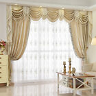 8 Feet Beige Chenille Waterfall and Swag living room Valance Curtains customize