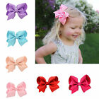 4 Inch Barrette Girls Ribbon Bowknot Hair Bows New Hair Clips Hair Accessories