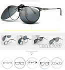 Polaried Clip on Flip up Sunglasses Grey Lens Car Driving Glasses Sports Eyewear