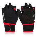WARMEN Cycling mountain-climbing Gloves with Leather Palm-Support YSJ-L002