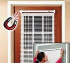 "Easy Install Magnetic Window Blinds, White Snaps ON/OFF No Tools 40""L/68L x 25""W"
