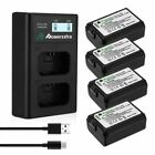 NP-FW50 Battery for Sony Alpha A6500 A6300 A6000 A7r A7 + LCD Dual USB Charger фото
