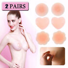 2 Pair Reusable Self Adhesive Silicone Breast Bra Petal Nipple Cover Pad Pasties