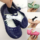 Girl Hollow Shoes Soft Jelly Bowknot Infant Sandals For melissa Dress up 13-16cm