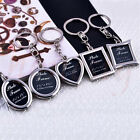 Fashion Mixed Custom Photo Frame Key Chain Keyring Decoration DIY Xmas Gift